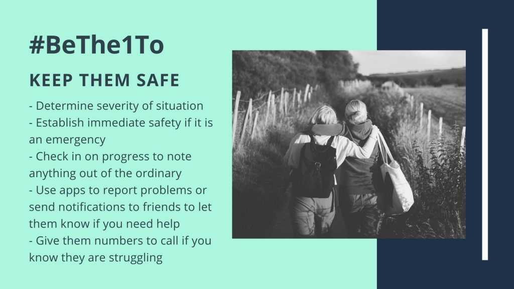 BeThe1To campaign keep them safe