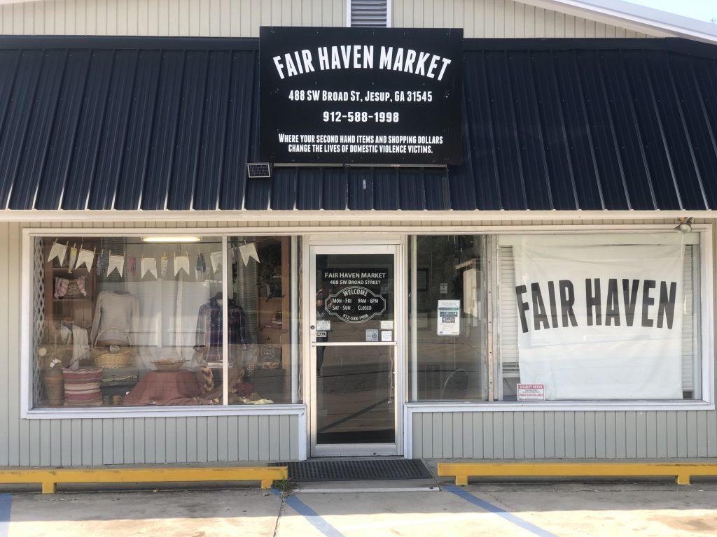 store front of fair haven market